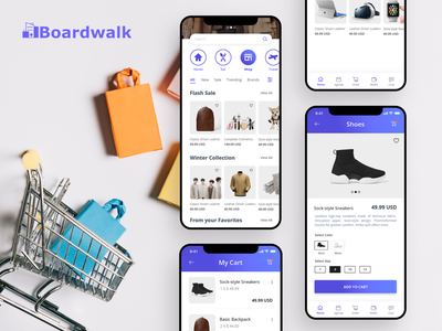 e-commerce mobile application design modern ios iphone x user interface application user experience ui ux