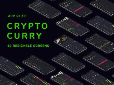 Crypto Curry - Premium Mobile UI Kit for Blockchain