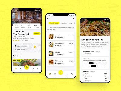 Food Order App - UI / UX Design iphone app mockup design food delivery app food app design user interface mobile app user experience ui design ux