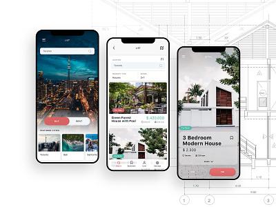 Real Estate Mobile Booking Application - UI/UX Design Project iphone app mockup design home app booking app real estate user interface mobile app application user experience ui design ux