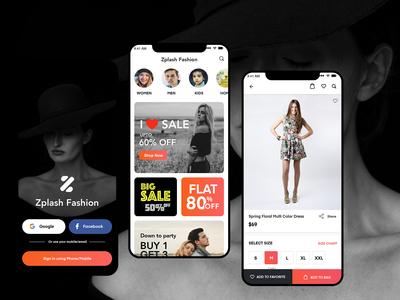 Zplash Fashion E-commerce UI/UX Design