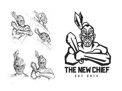 The New Chief illustration logo brand