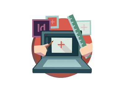 BYOL tip illustration illustration adobe indesign vector flat