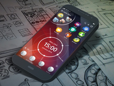 Concept work ui mobile interface