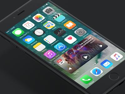 Widget concept player concept spotify widget app music mobile