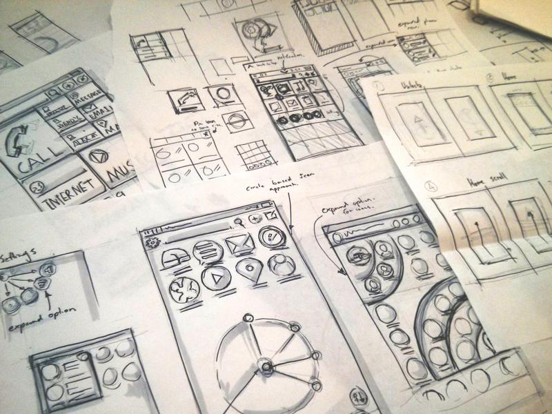 Mobile sketch concept ui pen paper mobile