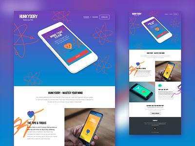 HunkyDory homepage testing health emotional prototype mobile