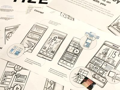 More sketching concept ui pen paper mobile