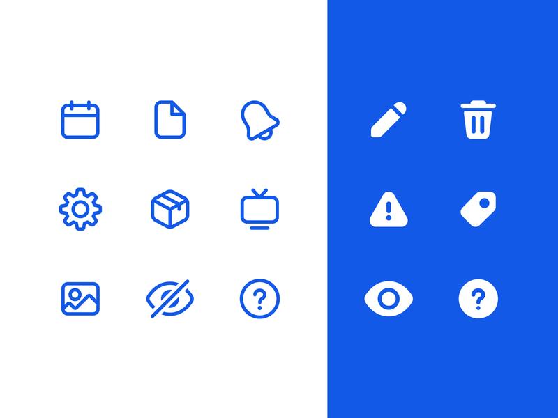 Icon set web design ui icon design iconography icon set icons
