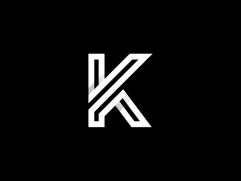 K letter mark logo identity branding