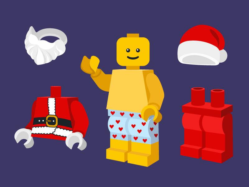 Lego Santa dress up game by Rowan Blokdijk | Dribbble | Dribbble