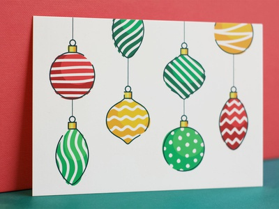 Happy holidays! christmas card merry christmas vector christmas balls illustration