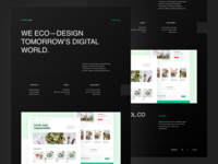 Kuroneko — Eco-built one page studio clean design eco-design space brutalism ecoconception ecology webdesign website design