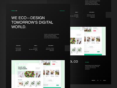 Kuroneko — Eco-built one page studio clean design eco-design space brutalism ecoconception ecology webdesign website design