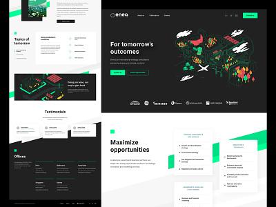 Enea Consulting — Eco-built Website eco-dev ethical design essential design website ecology illustration web design
