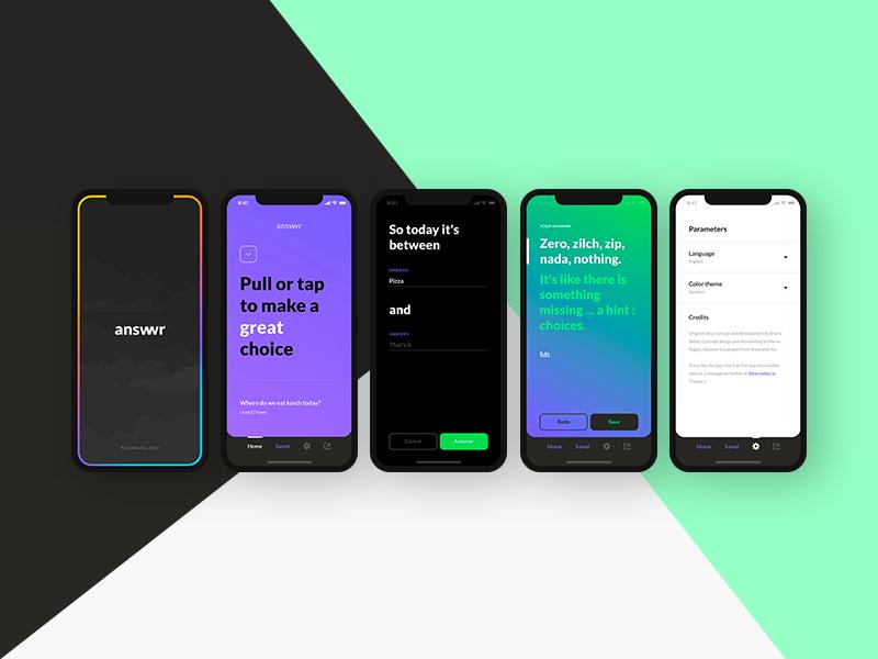 Answrr iOS ui ux iphonex application app ios