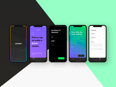 Answrr iOS ui ux iphonex application app ios