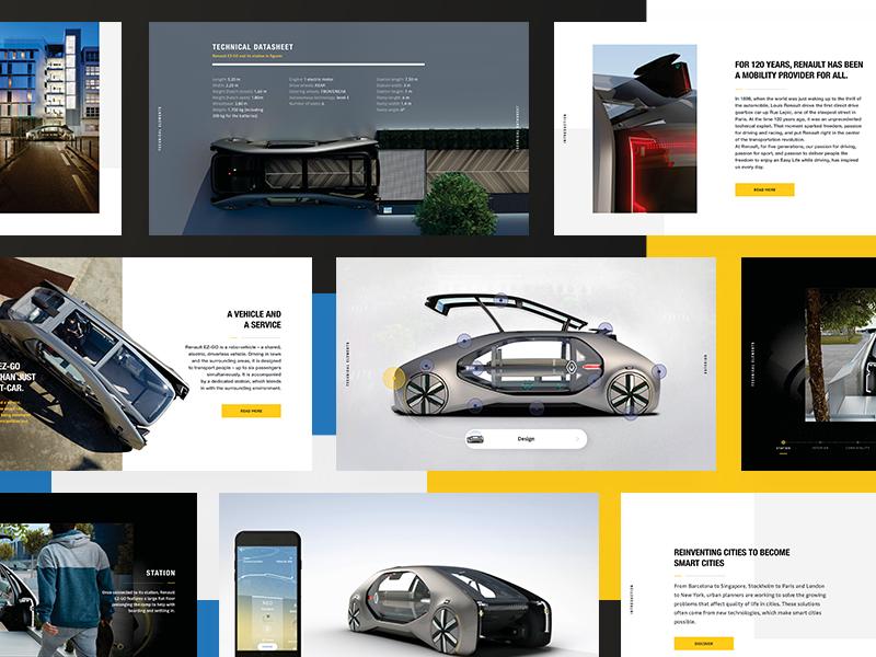 EZ-GO Digital pressbook web editorial layout publishing design ui ux animations digital pressbook ev car concept concept car