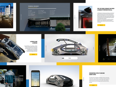 EZ-GO Digital pressbook web editorial layout publishing design ui ux animations digital pressbook ev car concept concept car