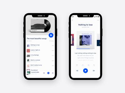 Minimalist Music App—MBox