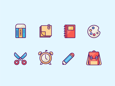 line icon about stationery stationery illustration icon clean flat