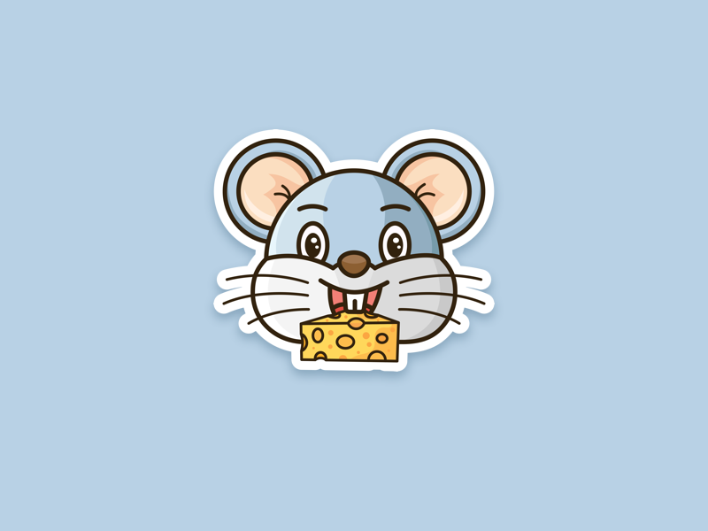 mouse icon design animal drawing illustrator funny character mascot cute ipad outline illustration icon vector mouse design flat