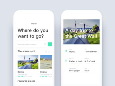 Travel arrangement application