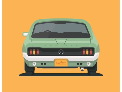 Vintage Ford Mustang old car ford mustang vector illustration