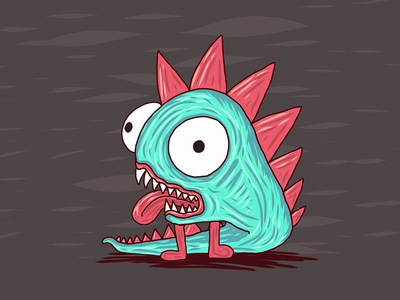 little dragon creature yuvalezov yuvsketch dragon cute fun doodle sketch draw ipadpro illustration monster creature