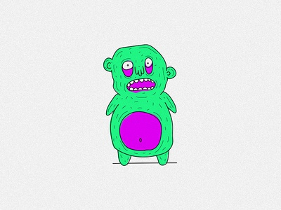 creature bear 3/3 draw doodle illustration sketch crazy weird neon bear monster creature