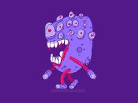 walking eye monster