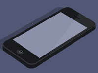 Flat iPhone