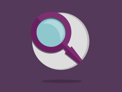Magnifying Glass illustration flat purple icon glass search magnifying glass