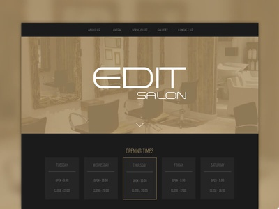 Edit salon website