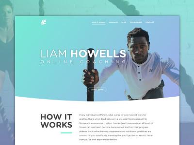Personal Trainer website personal trainer gym website web design one page hero header gradient