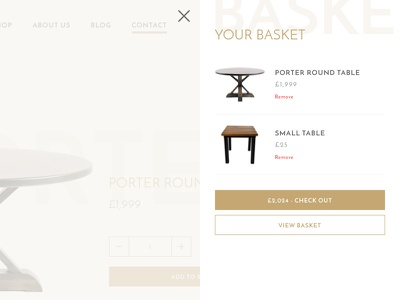 Shopping Cart check out online shop gold sidebar cart ecommerce