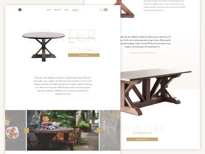 Nuumi product pages online shop slideshow furniture gold ecommerce