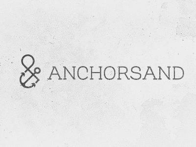 Anchorsand branding ampersand anchor