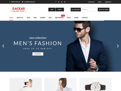 Zackas – eCommerce Fashion Template $5.00