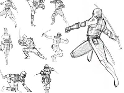 Ninja poses