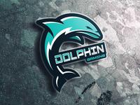 Dolphin Esport Mascot Logo