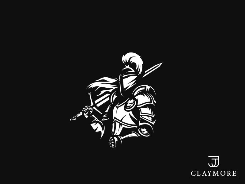 Claymore Sword Mascot Logo (Knight) aryojj.com aryojj mascot logo sword claymore