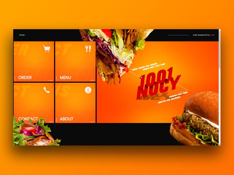 1001NOCY Restaurant Website photoshop ps html css 1001nocy design web webdesign