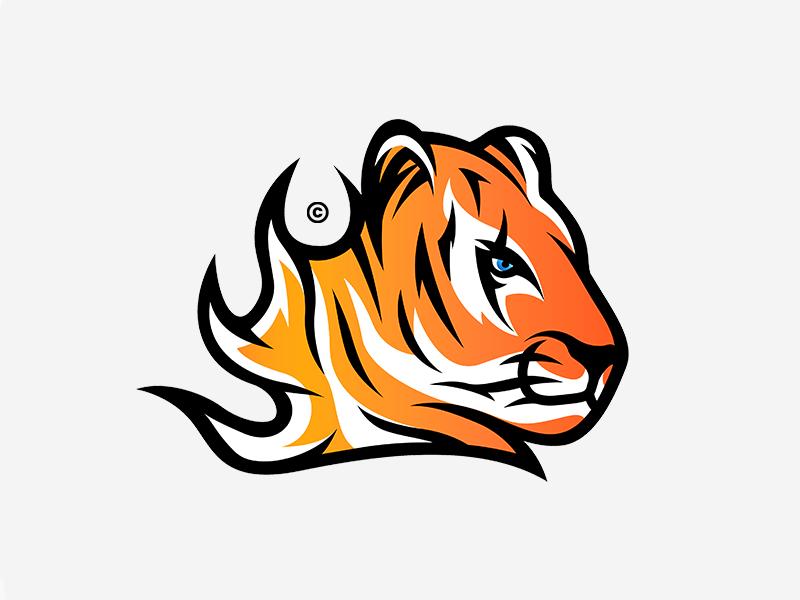 Tiger Logo aryojj.com sport aryojj mascot design esports mascot mascot logo branding design brand esports tiger logo