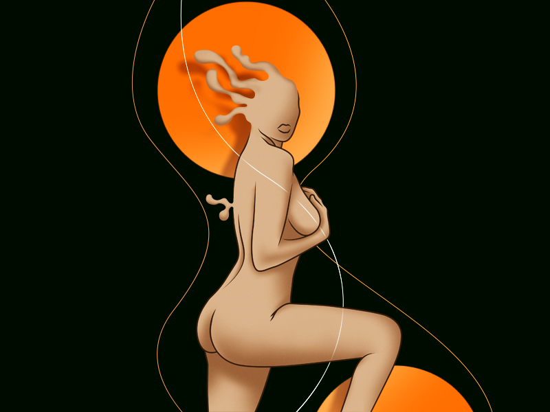 Can't Get You Outta My Brain nude magazine cover cover magazine illustration