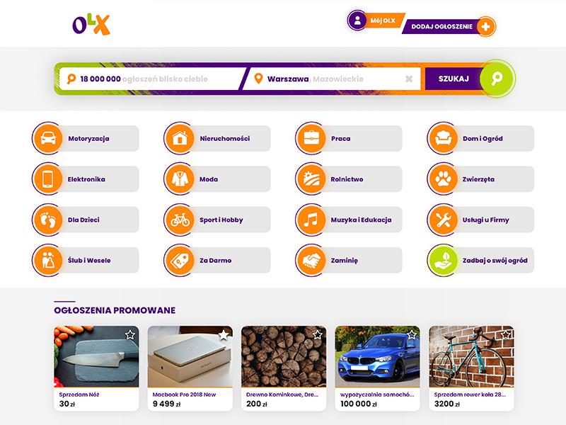 OLX.pl UI Concept interface design olx.pl olx psd web design ui design ui user inteface