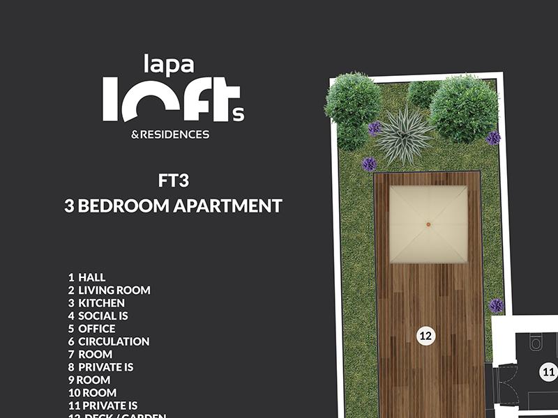 Lapa Lofts & Residences estate real plan