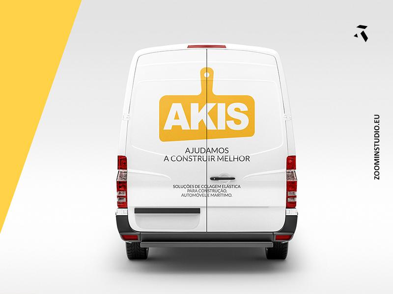 AKIS.PT madeira logo web rebrand design