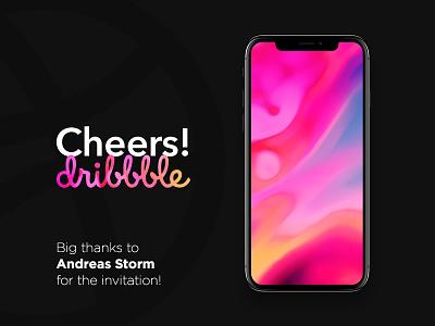 Cheers! Dribbble — Debut Freebie background digital vandalism art abstract x iphone wallpaper debut free freebie