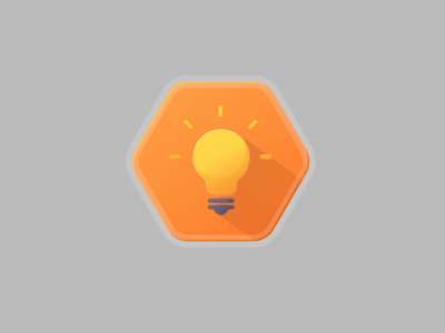 Light bulb badge bulb light bulb illustrator icon badge